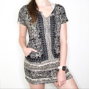 🌼 3/$15 Lucky Brand boho mini dress